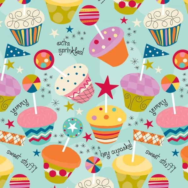 Printable Birthday Gift Wrapper ~ Cupcake party gift wrap st birthday for miss dylann pinterest