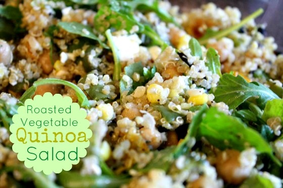 Roasted Vegetable Quinoa Salad | Noms | Pinterest