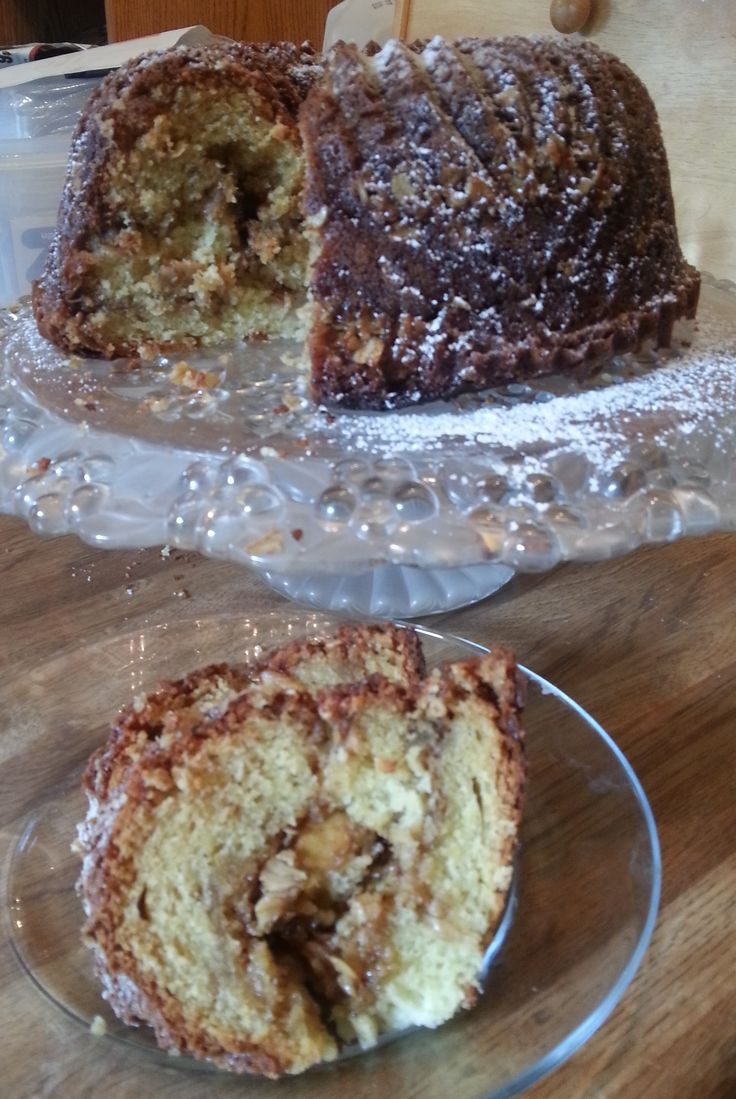 Spiced Pear Coffee Cake with brown sugar & oats: my results.