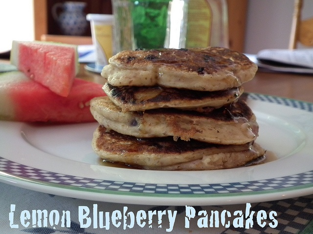 Lemon Blueberry Pancakes by Jo Stockton [It Ain't Meat, Babe] Maybe I ...
