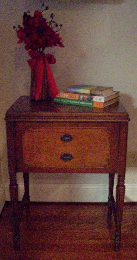 antique kenmore sewing machine in cabinet