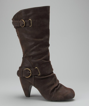 Take a look at this Chocolate Willa Boot by Fashion Savvy: Women's