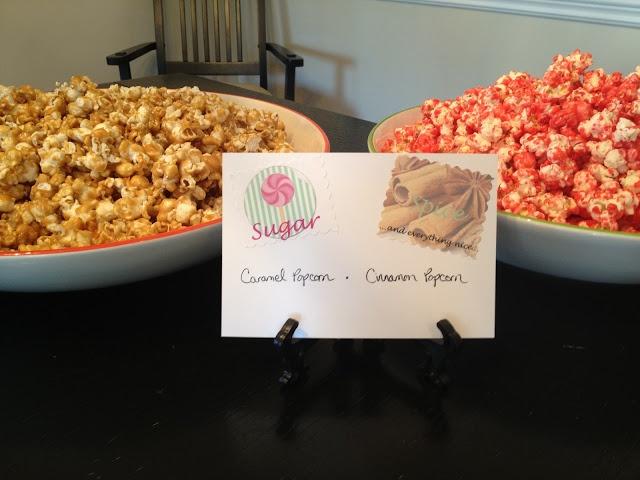 Living Unbound: Sugar and Spice Baby Shower - sugar & spice popcorn