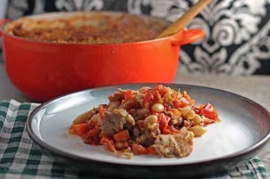 Cassoulet with White Beans, Sausage & Turkey - Healthy. Delicious.