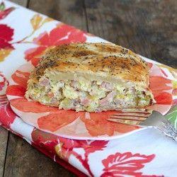 Ham and Leek Breakfast Braid | What's On My Plate | Pinterest