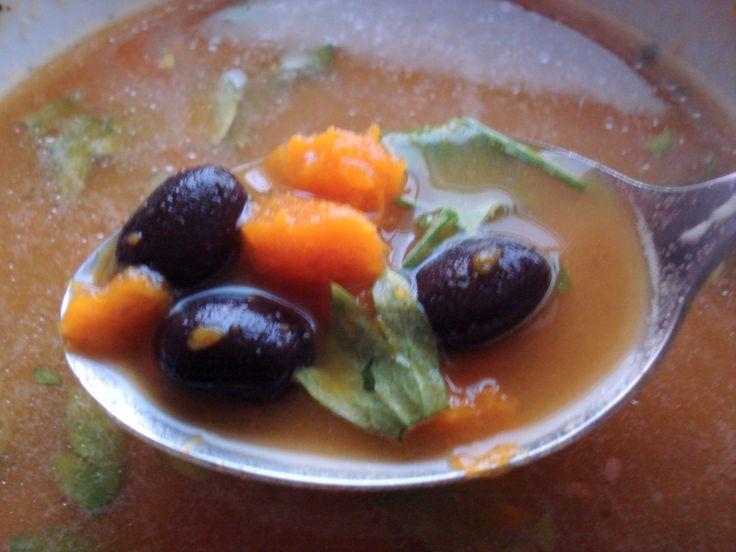 kabocha pumpkin and black bean soup   thin bean   Pinterest