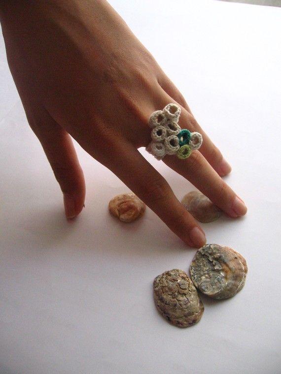 crochet ring Anillos Pinterest