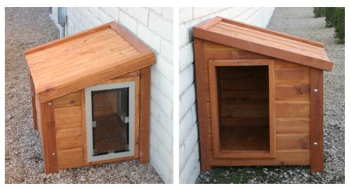Secure doggy door doggie doors pinterest for Dog house with a door