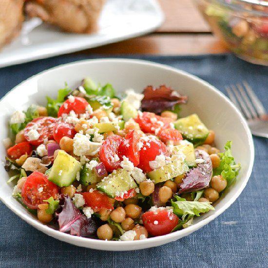 Vegetarian Greek-Style Chickpea Salad. | Food Ideas | Pinterest