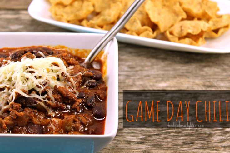 Game Day Chili Chili is the ultimate #football food. This #recipe is ...