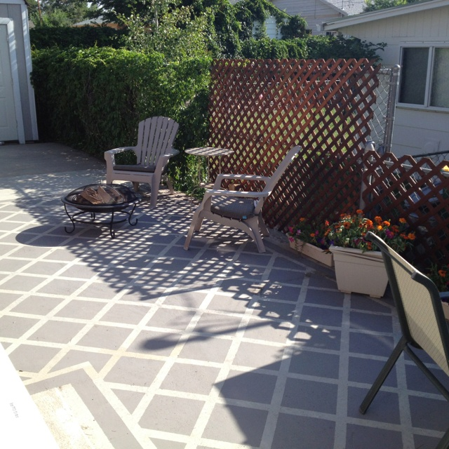 Painted Patio Floor Patio Re Design Pinterest