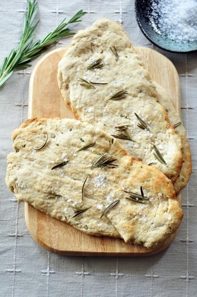 Rosemary and sea salt flatbreads | T•SPOON | Pinterest