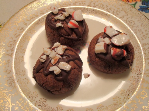 Double Chocolate-Peppermint Crunch Cookies #christmascookies