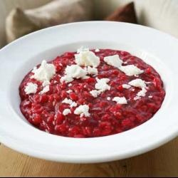 Beetroot Risotto with Feta Cheese. I serve this with some rocket on ...