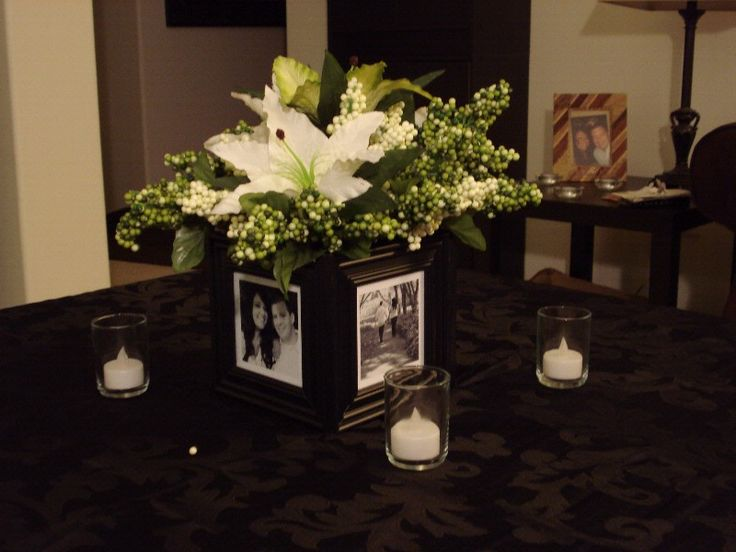 frame and flower centerpiece wedding ideas pinterest
