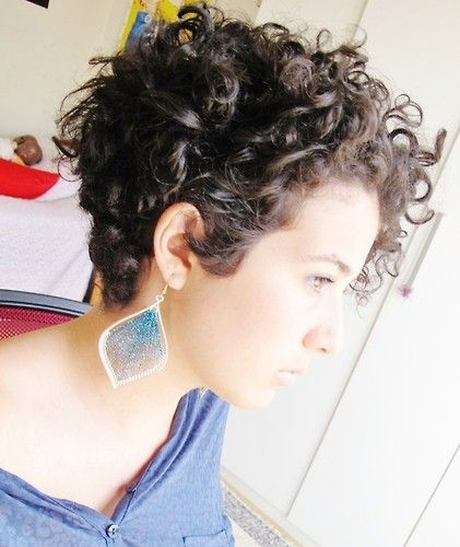 Curly pixie haircut. | Beauty and Skin Care | Pinterest