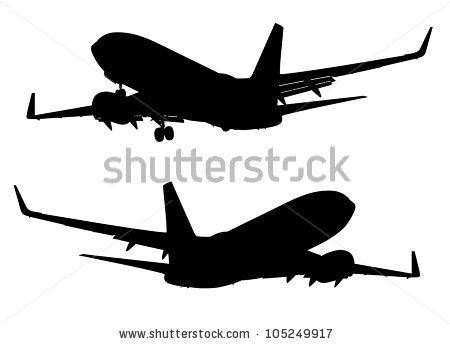 airplane silhouette - Google Search | Clipart-Paper Cut, Silhouette ...