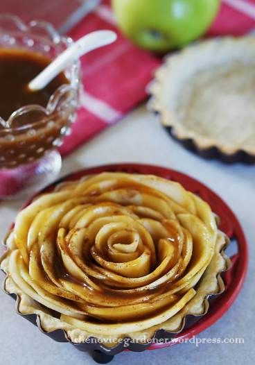 apple rose tart with caramel sauce | Saturday Sparks Features | Pinte ...