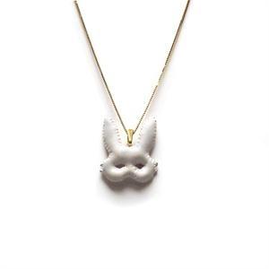 White Bunny Mask Necklace