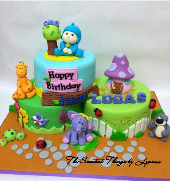Pocoyo and Animals cake