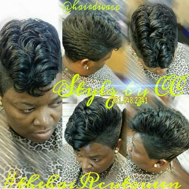 Vintage hair/pompadour | Black Women Short Cuts | Pinterest