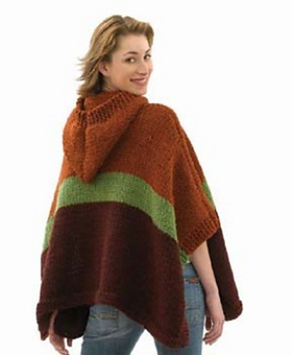 Knitting Pattern For A Hooded Cape Cloak Or Poncho : Pin by Louise Reed on Knit ware Pinterest