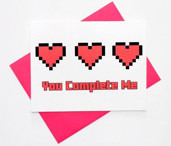 valentine card gamer
