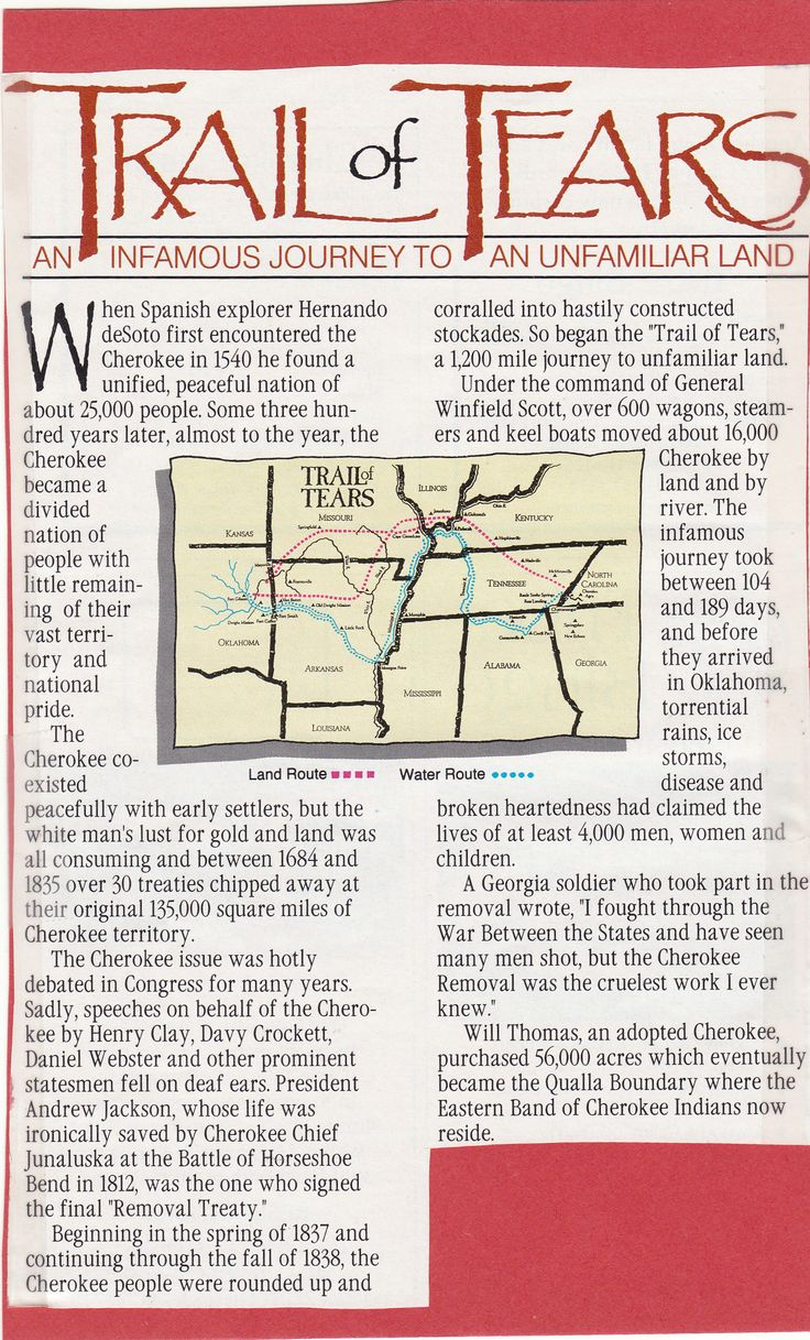 account of the trail of tears An eyewitness account of the party when they camped at foster's ford on the benge route of the trail of tears randolph county tourism association (870.