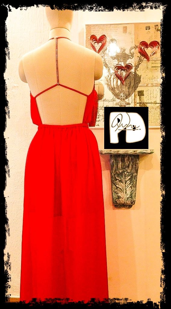 valentine red dress