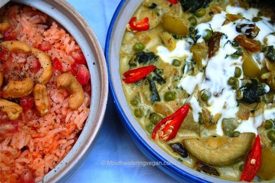 ... Fruit & Vegetable Curry – with Pomegranate, Tomatoed Basmati Rice