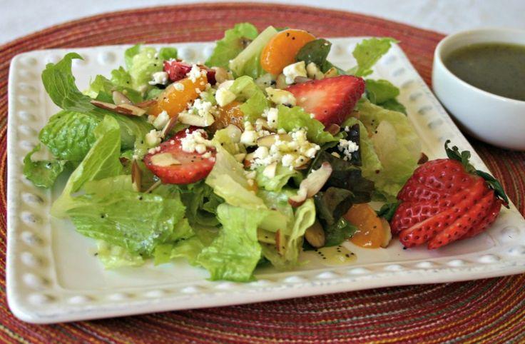Mandarin Strawberry Salad with Poppy Seed Dressing- I added chicken ...