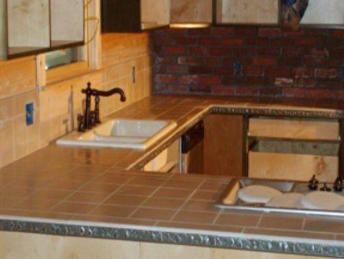 Pin by barbara baumgartner on tile installation pinterest for Ceramic tile kitchen countertops ideas
