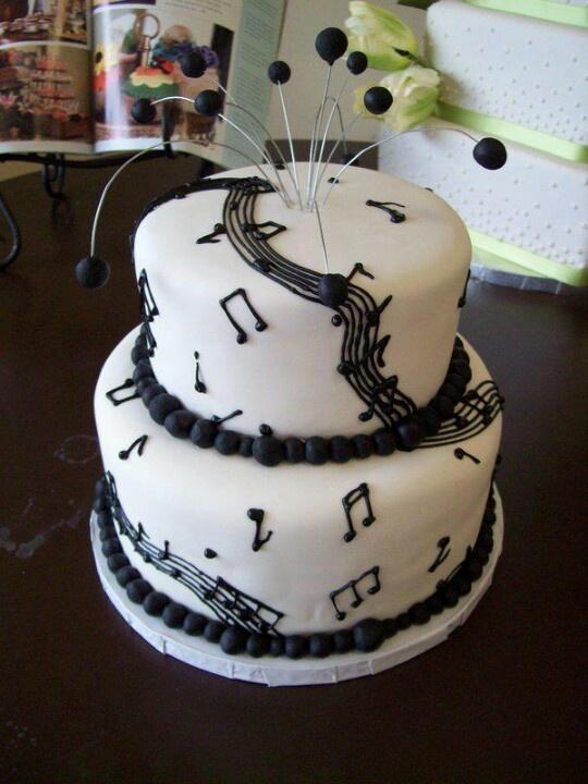 Music lovers cake Birthday cakes Pinterest