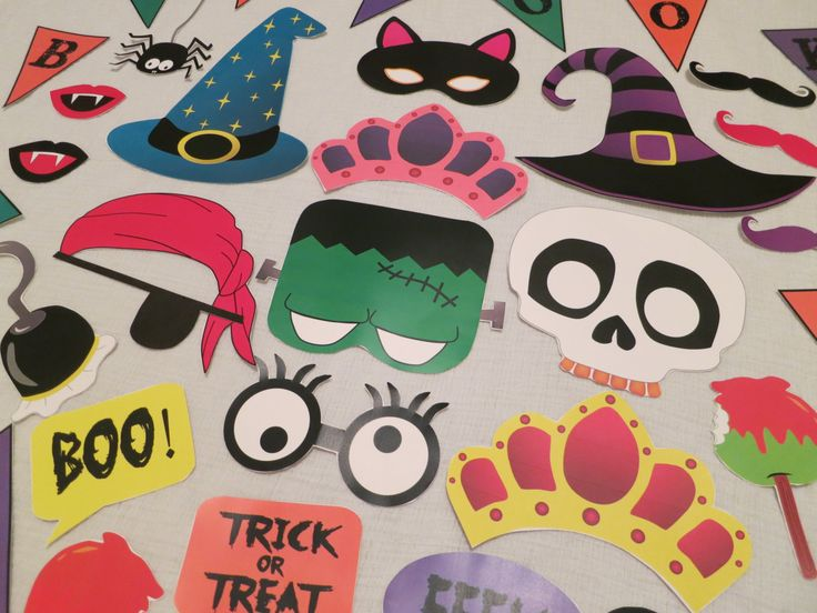 halloween photo booth props printable free pdf