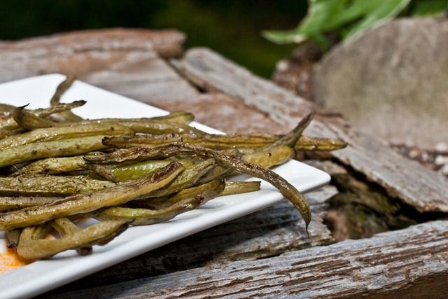 Easy Roasted Balsamic Green Beans   Culinary Wish List   Pinterest