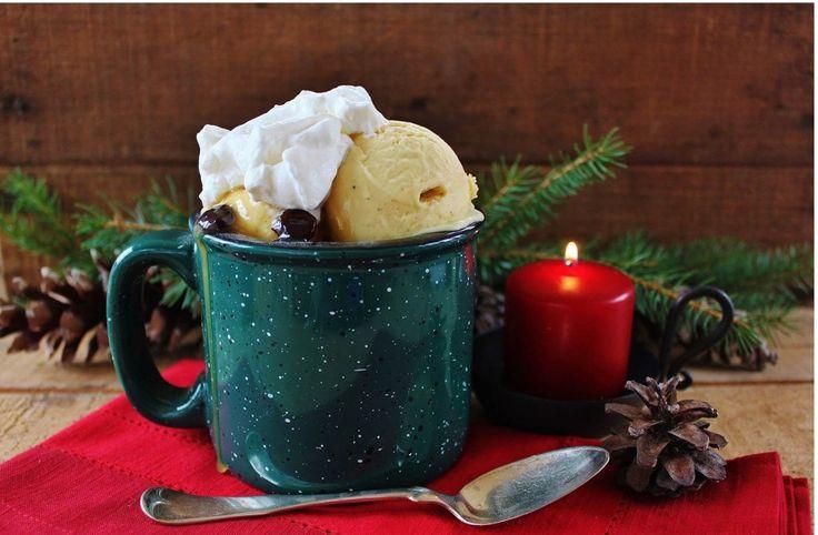 Eggnog ice cream with rum raisin sauce | Blame it on the Alcohol | Pi ...