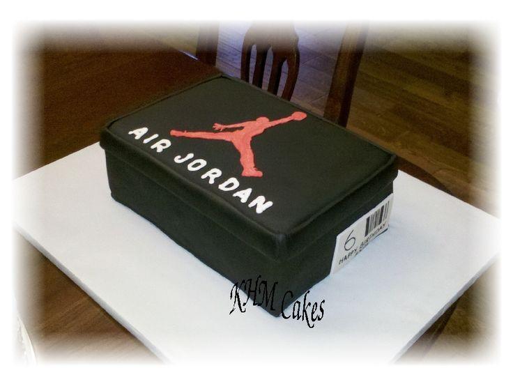Air Jordan Shoe Box Cake By Kmhcakescom Kids Cakes Pinterest