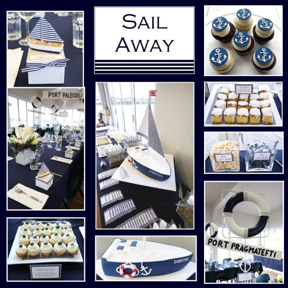 Nautical party nautical party theme pinterest for Anchor decoration party