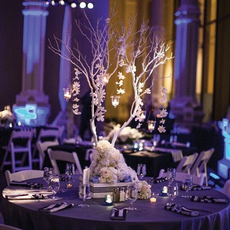 Manzanita Branches with Votives Centerpiece