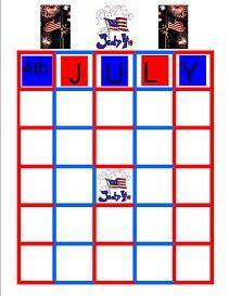 printable july 4th bingo cards