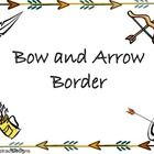 Bow and Arrow Border Up Arrow Image