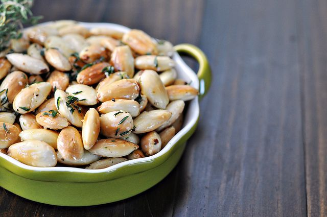 Fried Herbed Almonds - great snack