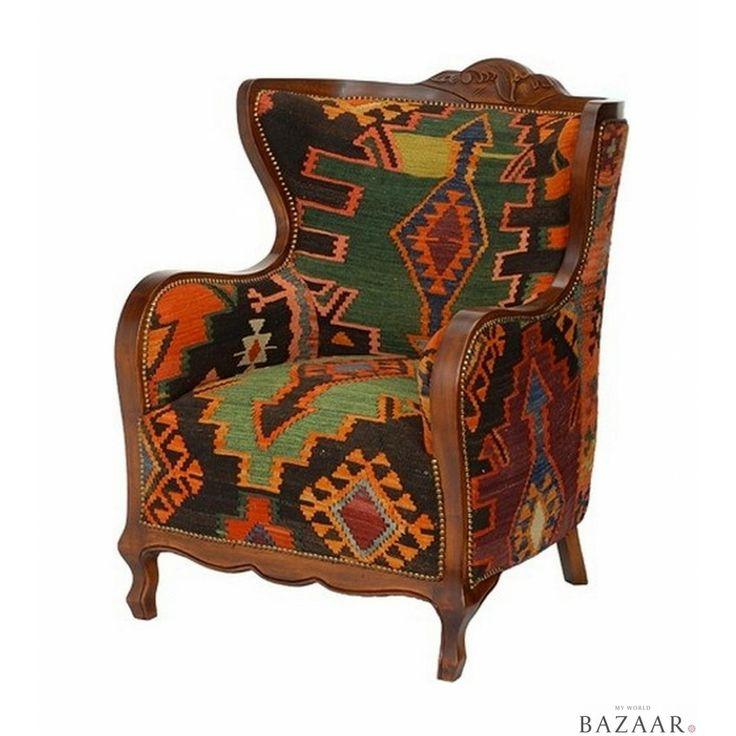 Kilim armchair ii from my world bazaar furniture oves for Furniture bazaar