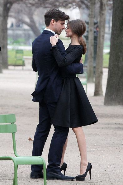 Olivia Palermo and Johannes Huebl dance in Les Tuileries Gardens in Paris