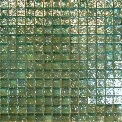 1sf mint green iridescent glass mosaic tile backsplash