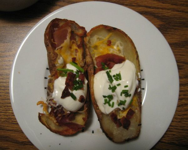Bacon and Cheddar Cheese Potato Skins | Recipe