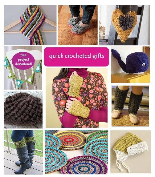 quick crocheted gifts Crochet - Im hooked! Pinterest