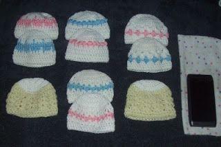 Cats-Rockin-Crochet Fibre Artist.: Crochet Preemie Baby Hats