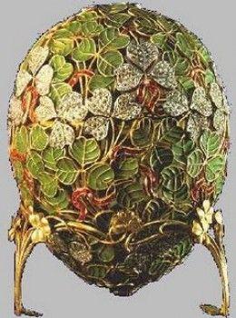 """Faberge - """"Clover Leaf Egg"""" 1902"""
