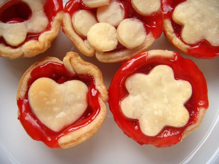 Cherry pies made with 2 ingredients: pie filling and pie crust. Easy ...